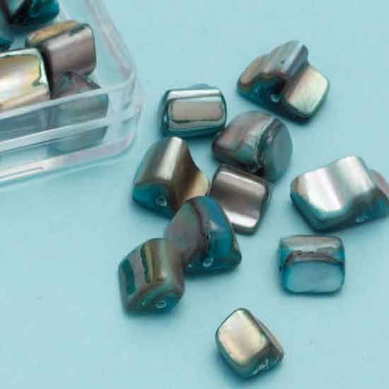 Mother-of-pearl Ornament Beads - Turquoise