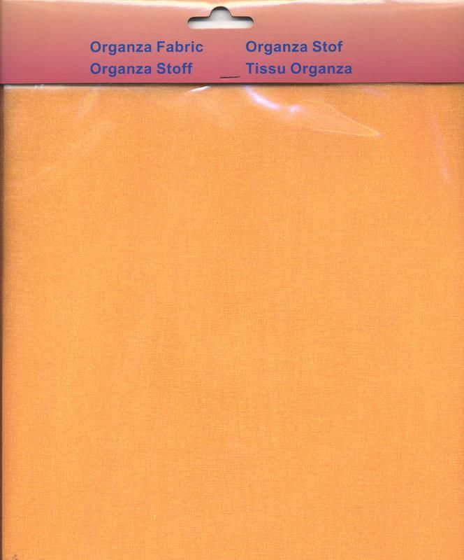 Organza Fabric - Orange - 32 x 96cm