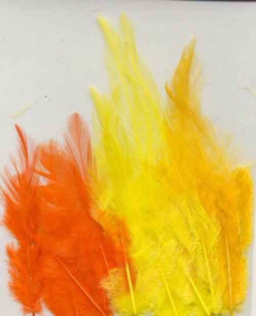 Feathers - Yellow - 9-15cm - 15pcs