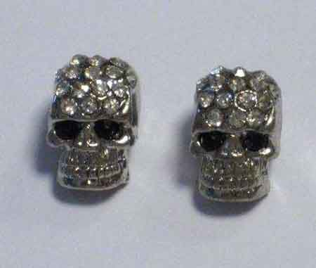 Skull Beads With Strass - 8x12mm