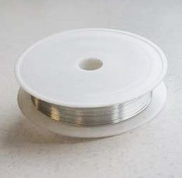 Draad Silver-plated copper - Zilver - 0,8mm x 3meter