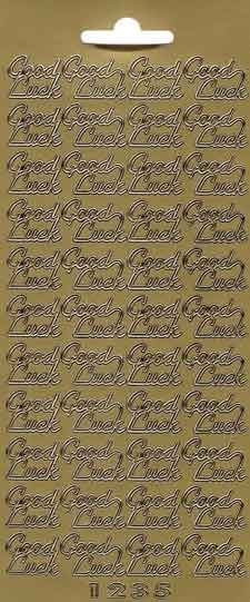 Good Luck - Peel-Off Stickervel - Goud