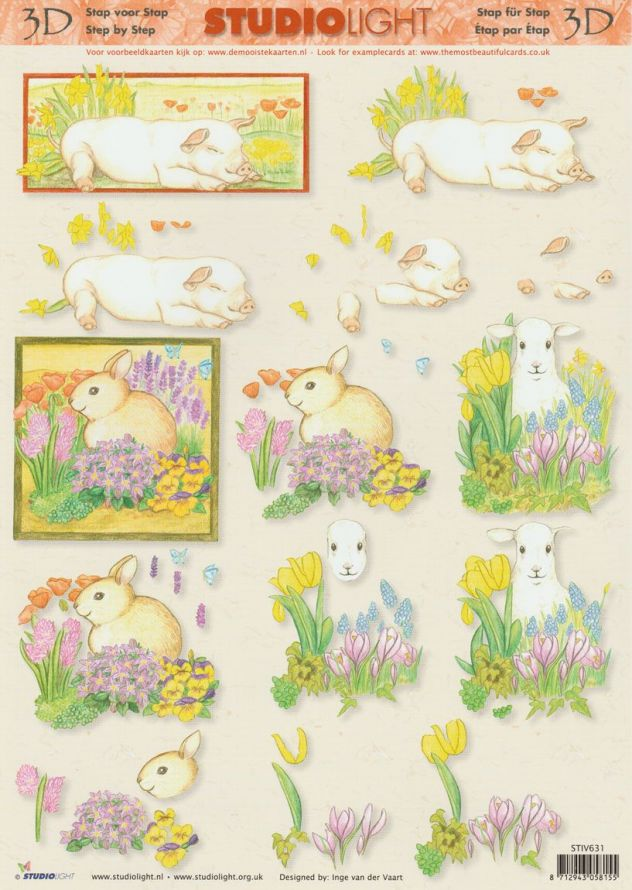 Spring - 3DA4 Step by Step Decoupage Sheet
