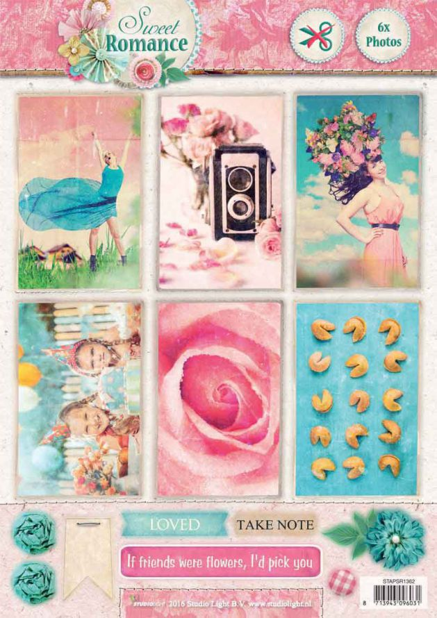 Sweet Romance -  3DA4 Photo Die-cut Sheet
