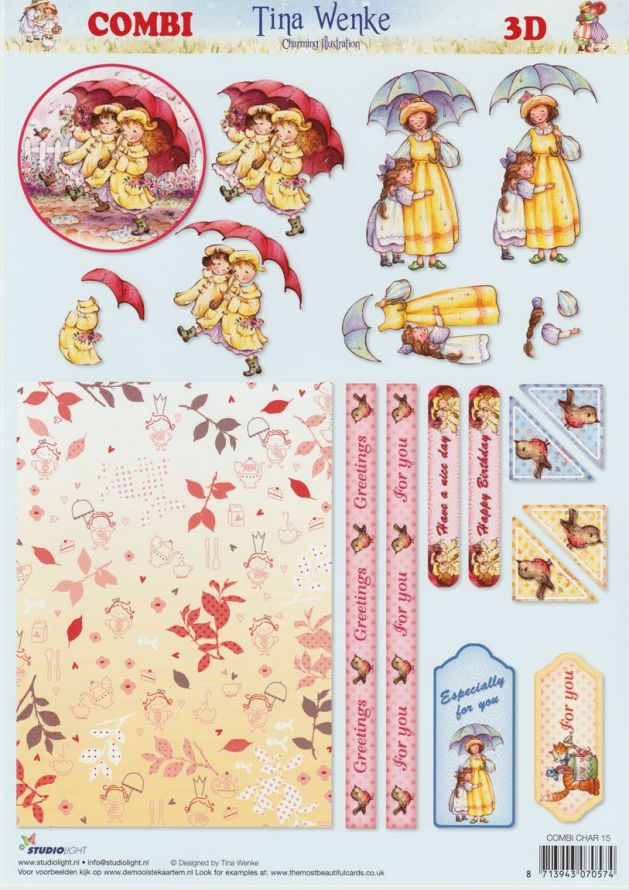 Tina Wenke COMBI - Step by Step Decoupage Sheet