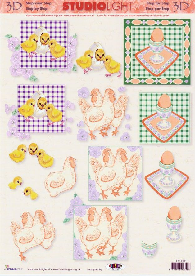 Easter - 3DA4 Step by Step Decoupage Sheet