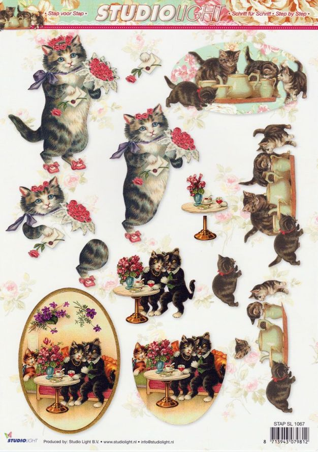 Nostalgic - 3DA4 Step by Step Decoupage Sheet