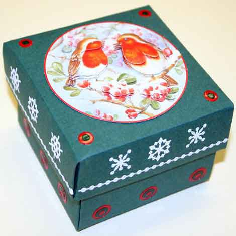 Deco Boxes Package - Square - Dark Green
