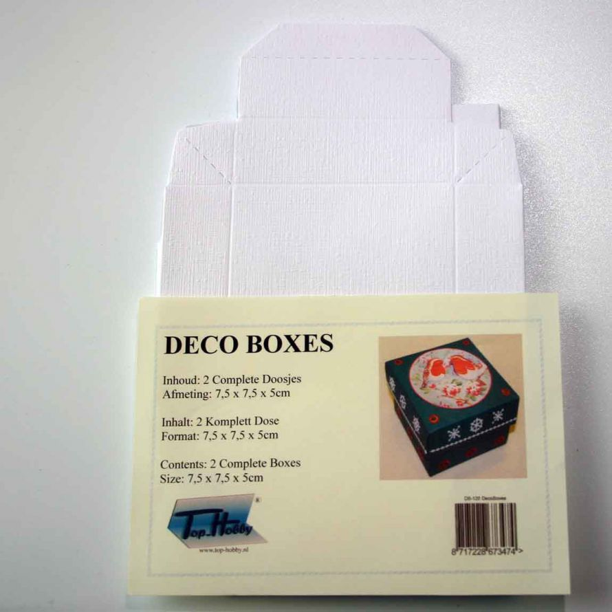 Deco Boxes Package - Square - White