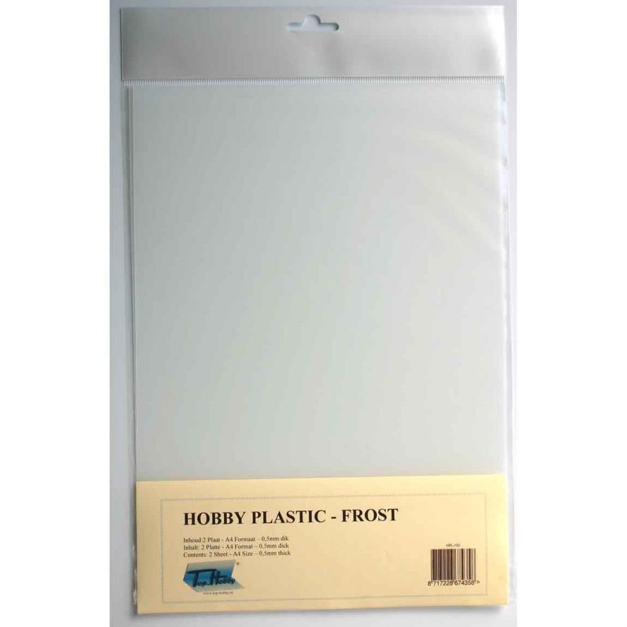 Matte Transparent Hobby Plastic A4 - 0,5mm thick