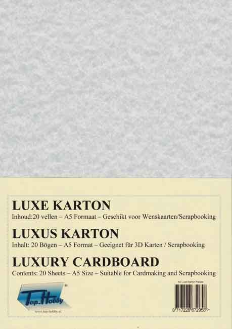 Luxery A5 Cardboard Package - Marbleized Light Grey - 20 Sheets