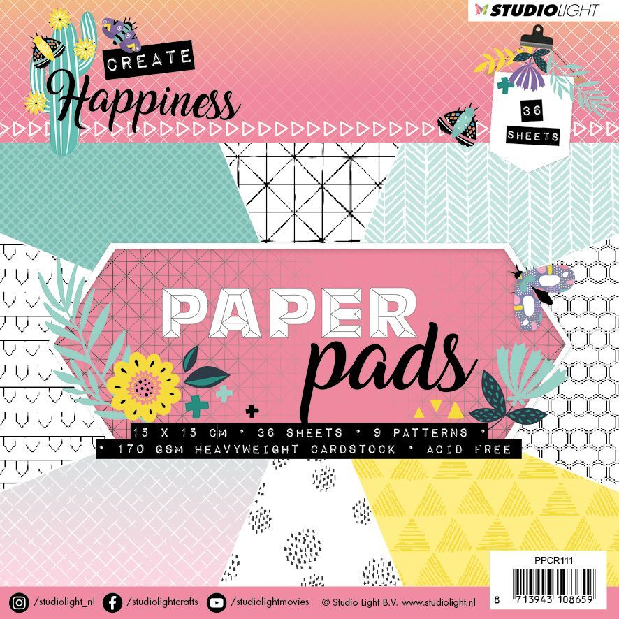 Create Happiness Paper Pad - 15x15cm
