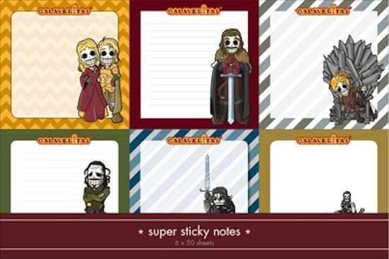 Calaveritas - Medieval sticky notes