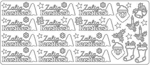 Zalig Kerstfeest - Peel-Off Sticker Sheet - Gold