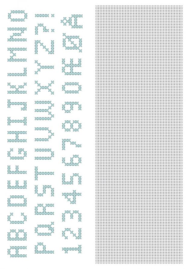 CrossCraft Patterns - Alphabet 1