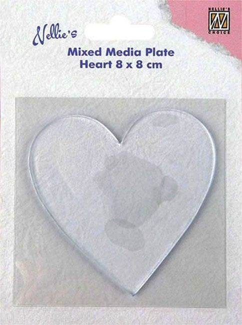 Transparant Mixed Media Plate - Heart