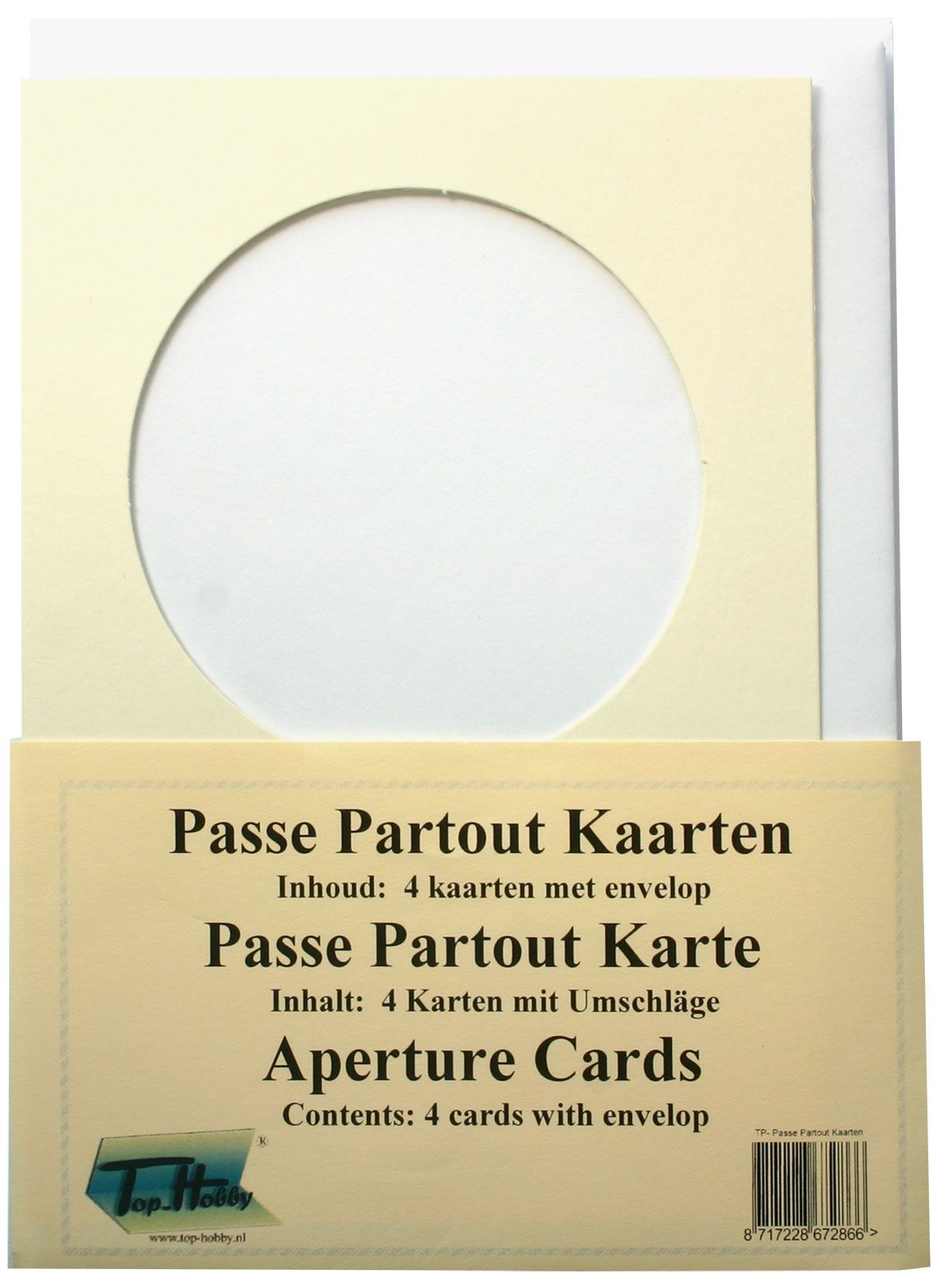 Passe Partout Kaarten.Rond Passe Partout Kaarten Pakje Ivoor