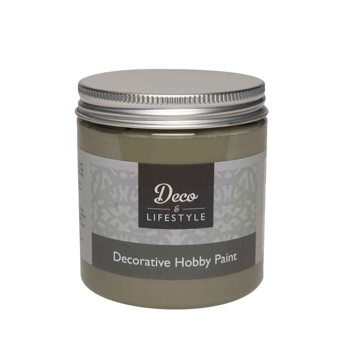 decoratieve hobby verf deco lifestyle olive 230ml. Black Bedroom Furniture Sets. Home Design Ideas