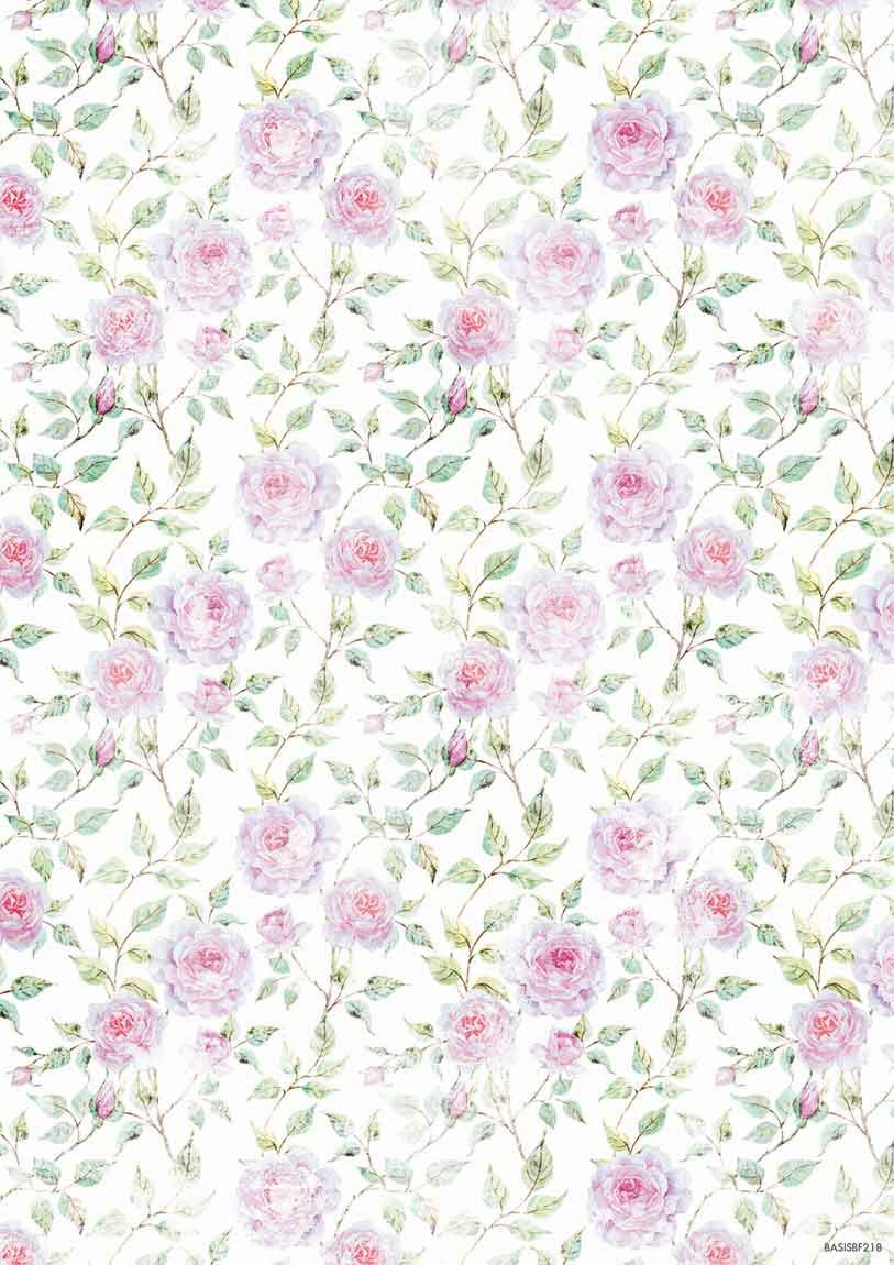 Beautiful Flowers Background Paper Double Printed A4