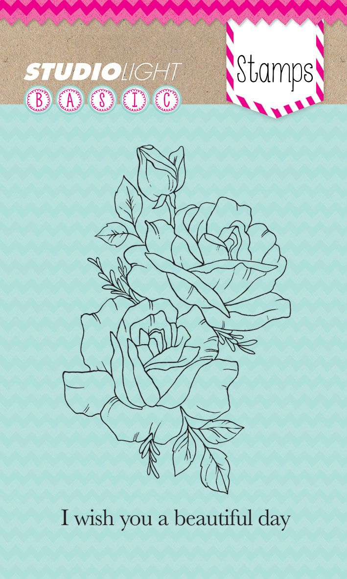 Bloemen I Wish You A Beautiful Day Transparante Stempel A6