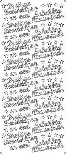 Prettige Feestdagen En Een Gelukkig Nieuwjaar Peel Off Sticker