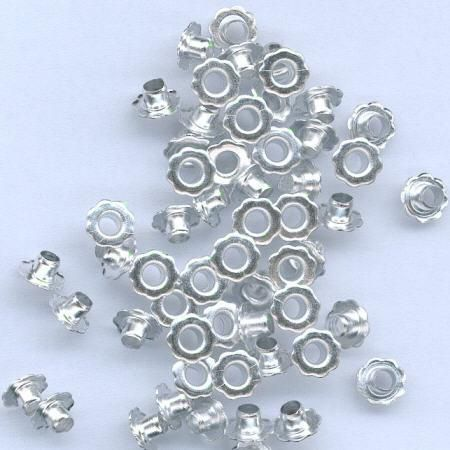 Eyelets Flowers - Silver - 6mm