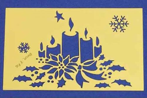 Christmas Candles - Embossing Stencil