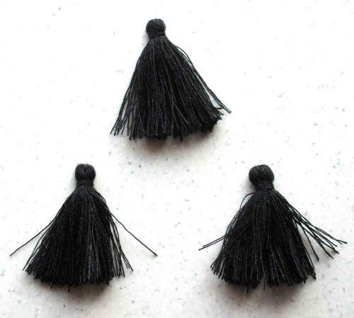 Thread Tassel - Black - 3cm