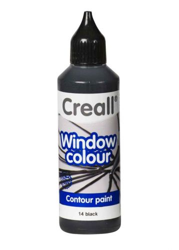 Glas Verf - Contour  - CREALL-GLASS - Windowcolor - Zwart