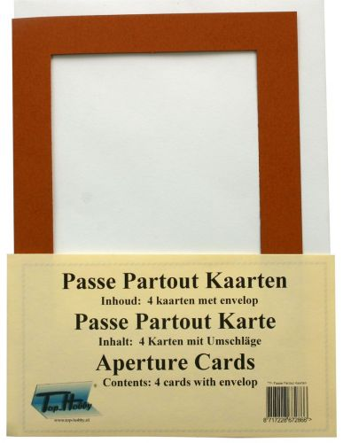 Rectangle Passe Partout Cards Package - Brown