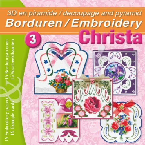 Embroidery Book 3D and Pyramid - Christa