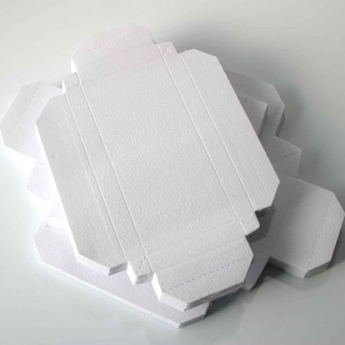50 Deco Boxes - Rectangle - White