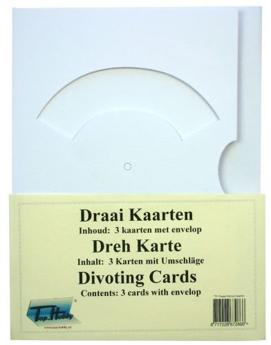 Divoting Cards Bags - White - 3 Cards, enveloppes and split pins