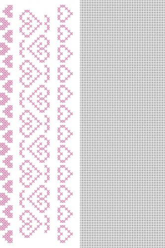 CrossCraft Patterns-10 Heart Borders
