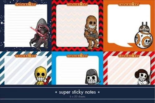 Calaveritas - Space warriors sticky notes